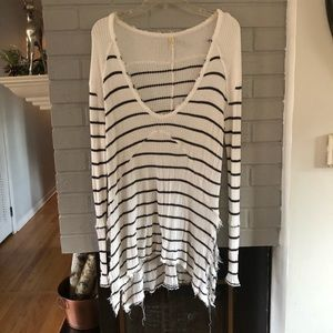 Free People Sunset Park Black and White Thermal